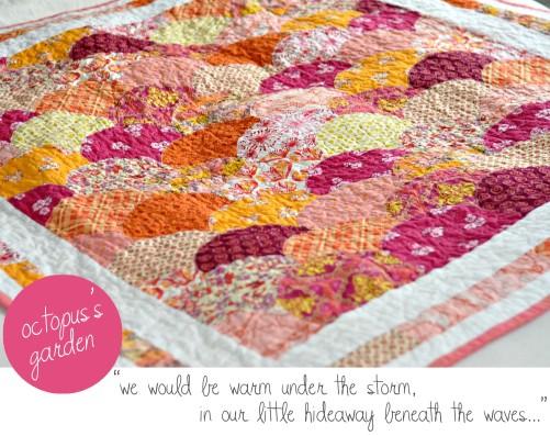 octopus's garden handmade quilt